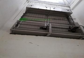 济南水质净化处理一厂自动卷绕式空气过滤器