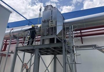 中涂化工(广东)风管型自动新风处理卷绕式过滤器