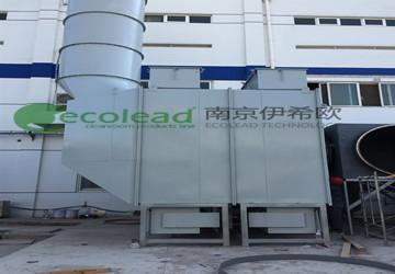 上海某药用包装漆雾废气治理项目自动卷绕式过滤器设备